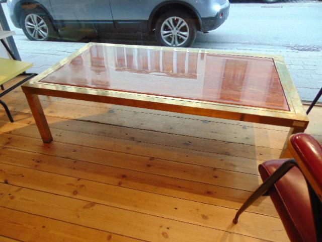 fu 081 table basse marbre du bresil laiton 1970 janssen furniture apostrophe apostrophe co. Black Bedroom Furniture Sets. Home Design Ideas